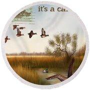 Duck Hunting-jp2783 Round Beach Towel