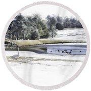 Broadmoor Winter Swim Round Beach Towel