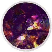 Ducklings Young Cute Animals Duck  Round Beach Towel
