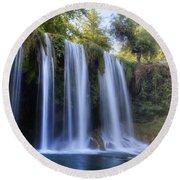 Duden Waterfall - Turkey Round Beach Towel