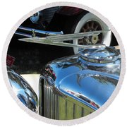 Duesenberg Hood Ornament  Round Beach Towel