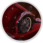 Duesenberg Side View Round Beach Towel