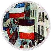 Dufy: Flags, 1906 Round Beach Towel