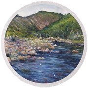 Duivenhoks Dam Heidelberg South Africa 2016 Round Beach Towel