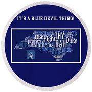 Duke University Blue And White Products Round Beach Towel