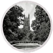 Duke University Chapel Round Beach Towel
