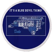 Duke University Fight Song Products Round Beach Towel