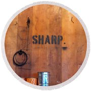 Dull Sharp Round Beach Towel