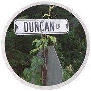 Duncan Ln Round Beach Towel