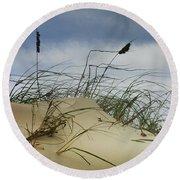 Dune And Beach Grass Round Beach Towel