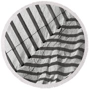 Dune Fence Round Beach Towel