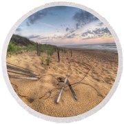 Dune Fencing Down Round Beach Towel