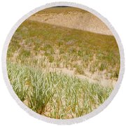 Dune Grass Round Beach Towel