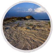 Dunes At St. Simons Island Round Beach Towel