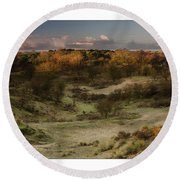 Dunes At Sunrise Round Beach Towel