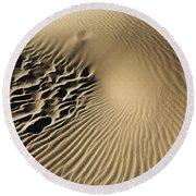 Dunes Footprints Round Beach Towel