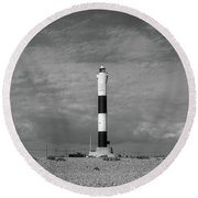Dungeness Lighthosue Round Beach Towel