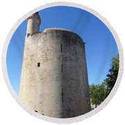 Dungeon In Aigues Morte Round Beach Towel