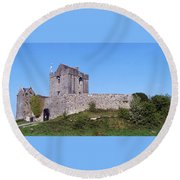 Dunguaire Castle Kinvara Ireland Round Beach Towel