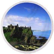 Dunluce Castle, Co Antrim, Irish, 13th Round Beach Towel