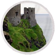 Dunluce Castle II Round Beach Towel