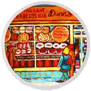 Dunn's Treats And Sweets Round Beach Towel
