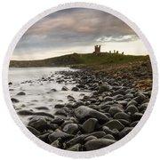 Dunstanburgh Castle Uk Round Beach Towel