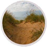 Nova Scotia's Cabot Trail Dunvegan Beach Dunes Round Beach Towel