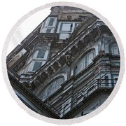 Duomo In Florence Round Beach Towel