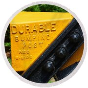 Durable Bumping Post Round Beach Towel