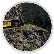 Durango - Silverton Train Round Beach Towel