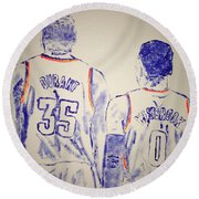 Durant And Westbrook Round Beach Towel