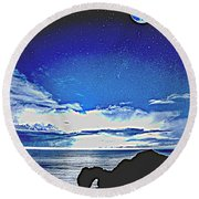 Durdle Door, Wareham, United Kingdom 2b Round Beach Towel