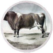 Durham Bull, 1856 Round Beach Towel