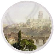Durham Cathedral Round Beach Towel by George Arthur Fripp