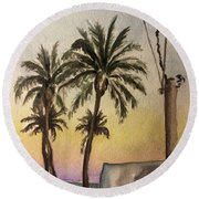 Dusk Round Beach Towel