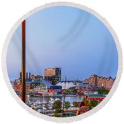 Dusk At Federal Hill Round Beach Towel