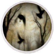 Dusk Begins As The Crows Fly Round Beach Towel