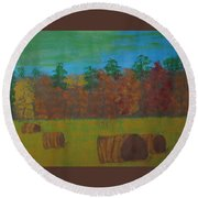 Dusk In The County Round Beach Towel