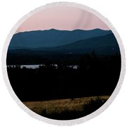 Dusk In The White Mountains Round Beach Towel