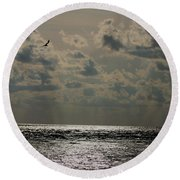 Dusk Sets In Round Beach Towel