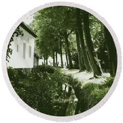 Dutch Canal - Digital Round Beach Towel