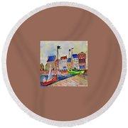 Dutch Harbor Round Beach Towel