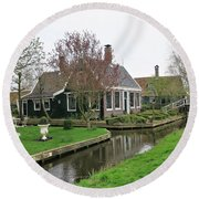 Dutch Village 2 Round Beach Towel