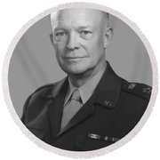 Dwight D. Eisenhower  Round Beach Towel