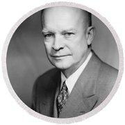 Dwight Eisenhower Round Beach Towel