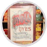 Dy-o-la Dyes Round Beach Towel