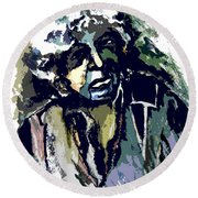Dylan Round Beach Towel by Mindy Newman