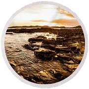 Dynamic Ocean Panoramic Round Beach Towel