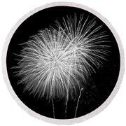 Bang Bang Black And White  Round Beach Towel